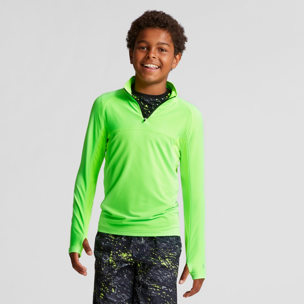 Boys 1/4 Zip Pullovers - C9 Champion Forging Green L