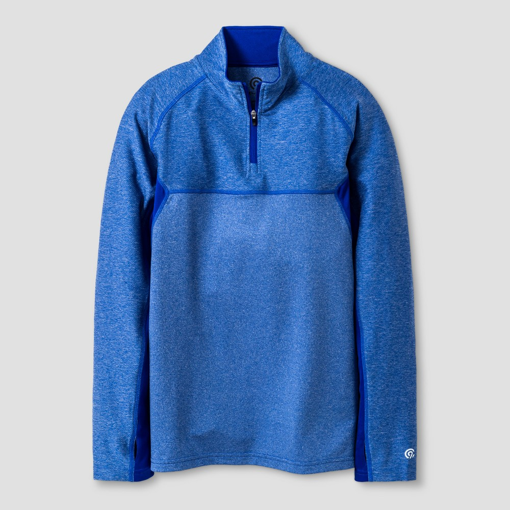 Boys 1/4 Zip Pullovers - C9 Champion Heather Blue S