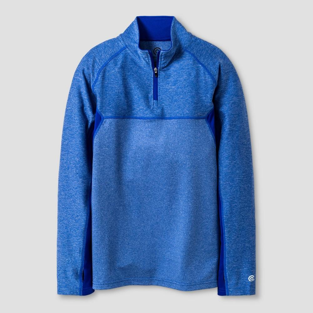 Boys 1/4 Zip Pullovers - C9 Champion Heather Blue M