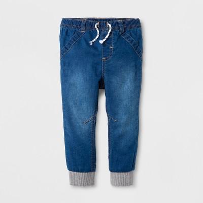 Baby Girls' Denim Jogger Pants - Cat & Jack™ Denver Wash 18 M