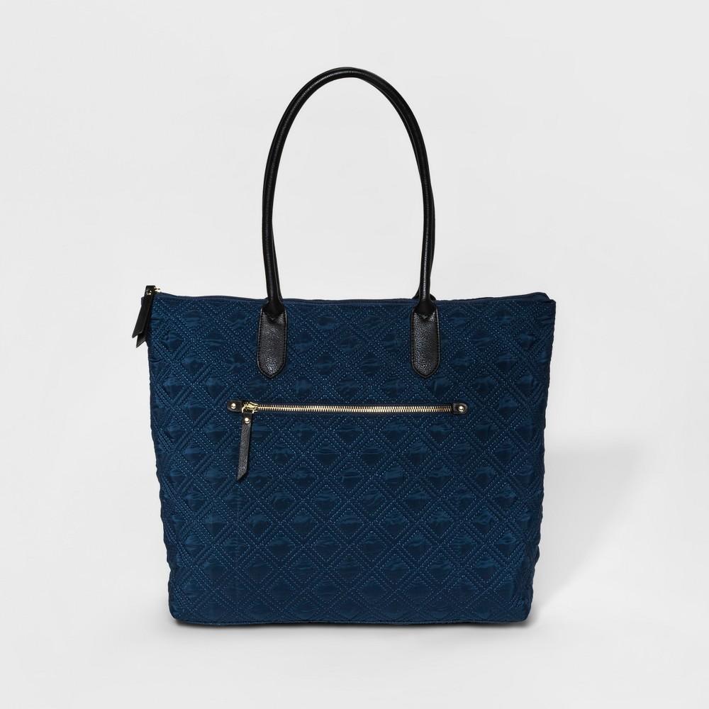 Womens Nylon Quilted Tote Handbag - Merona Indigo (Blue)