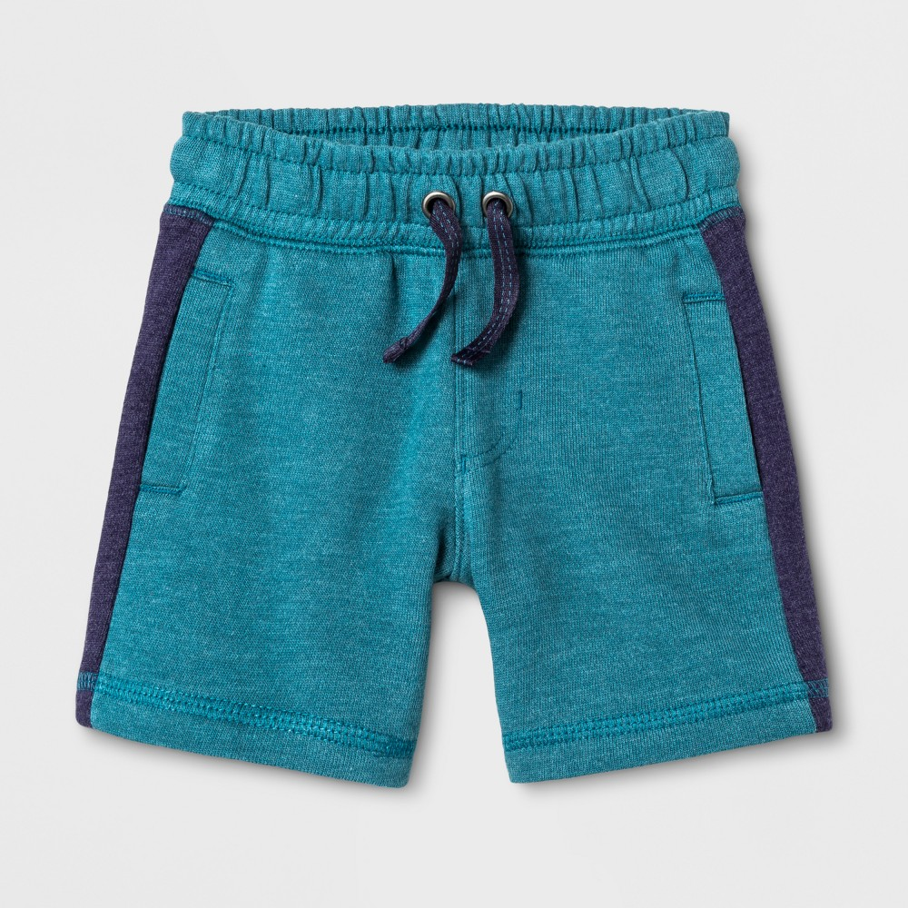 Toddler Boys Lounge Shorts Cat & Jack Teal 4T, Blue