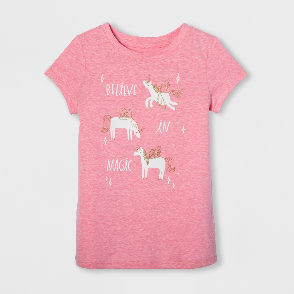 Toddler Girls Cap Sleeve Graphic T-Shirt - Cat & Jack Popsicle Pink 4T, Yellow