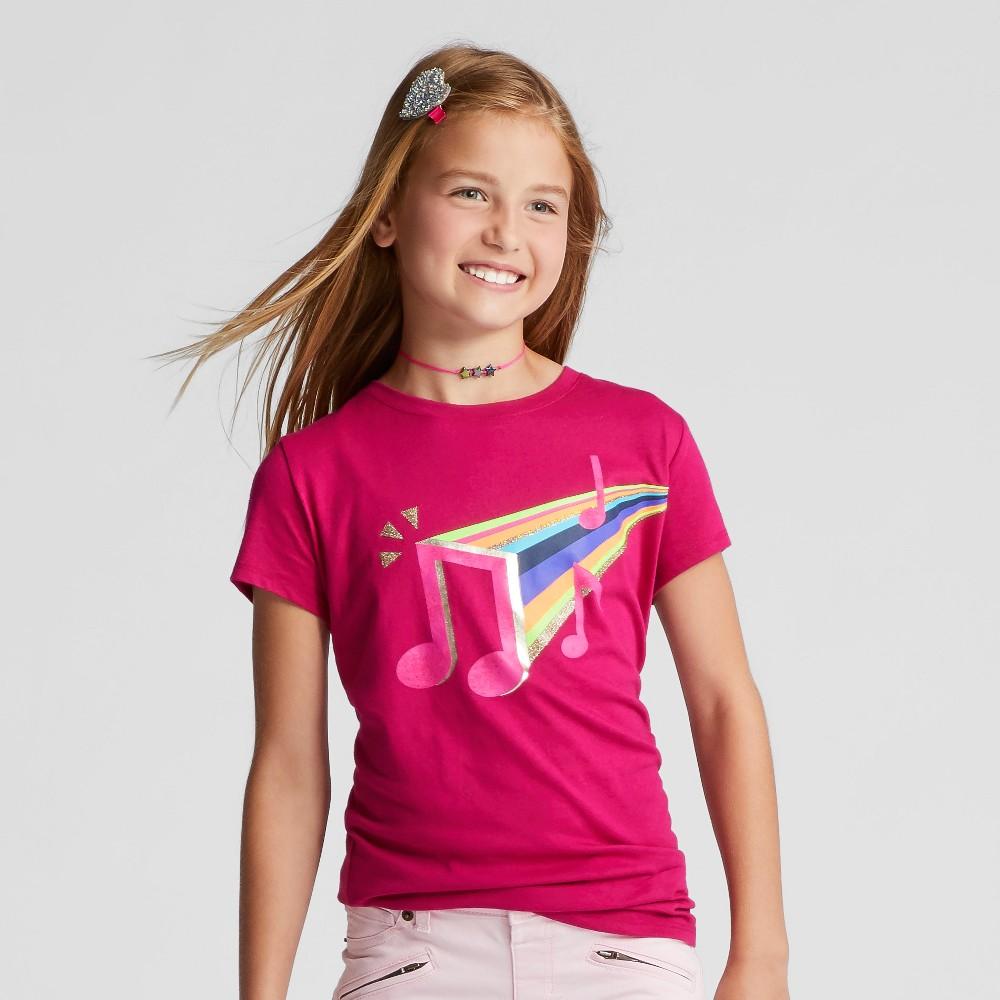 Girls Short Sleeve Music Graphic T-Shirt - Cat & Jack Pink M