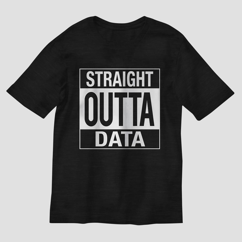 Boys Straight Outta Data Graphic Short Sleeve T-Shirt - Black XS