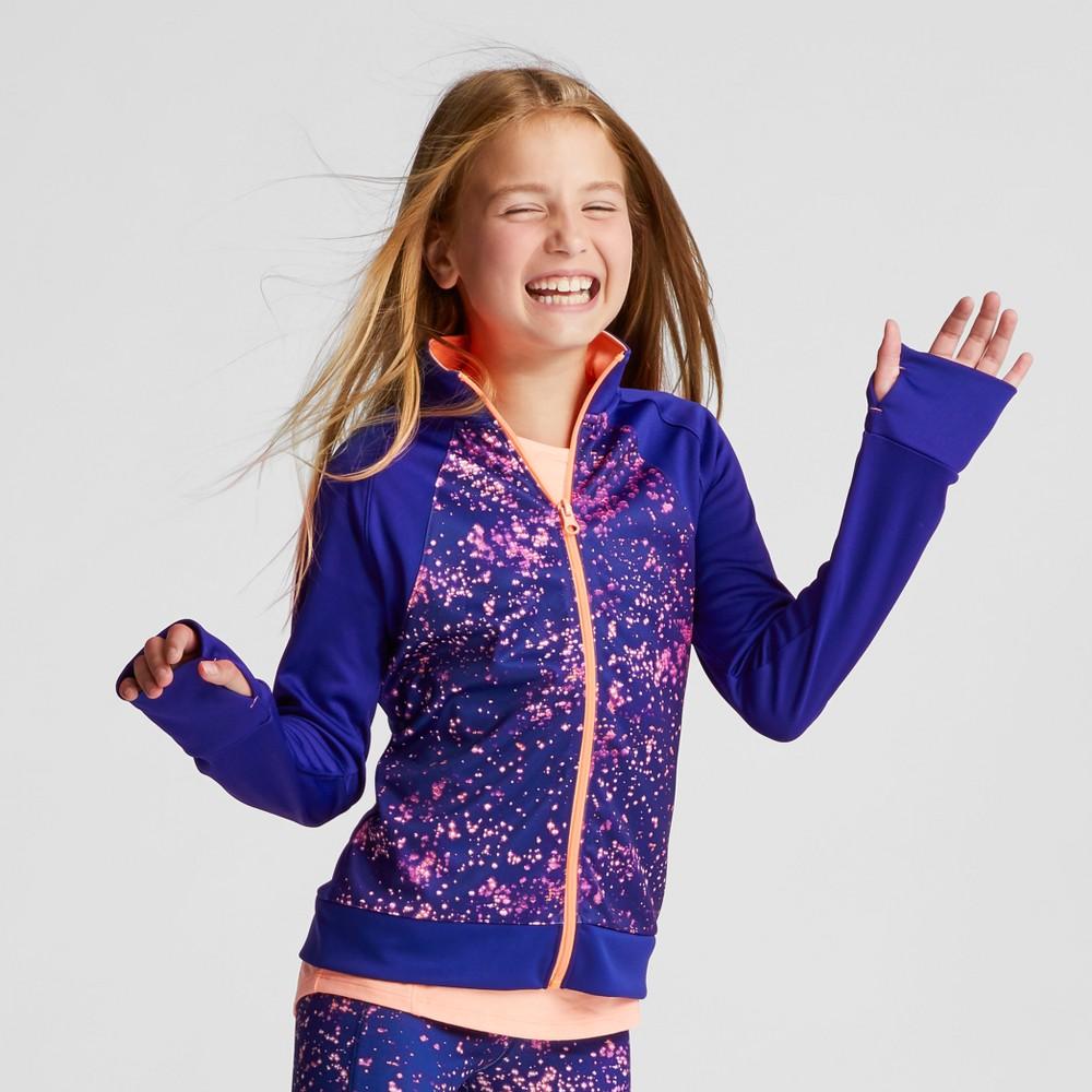 Girls Track Jacket Starry Dot - C9 Champion Purple XL, Blue