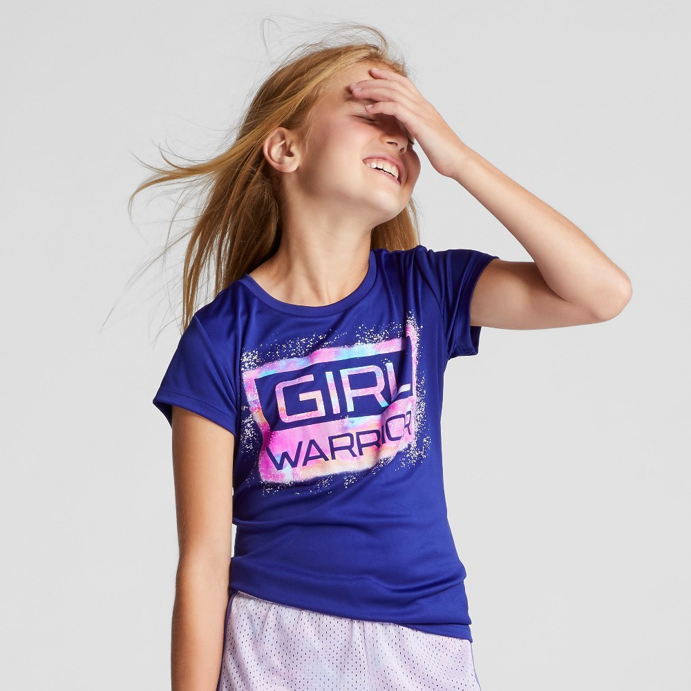 Girls Graphic Tech T-Shirt - C9 Champion Ultra Marine Purple S Girl Warrior, Blue