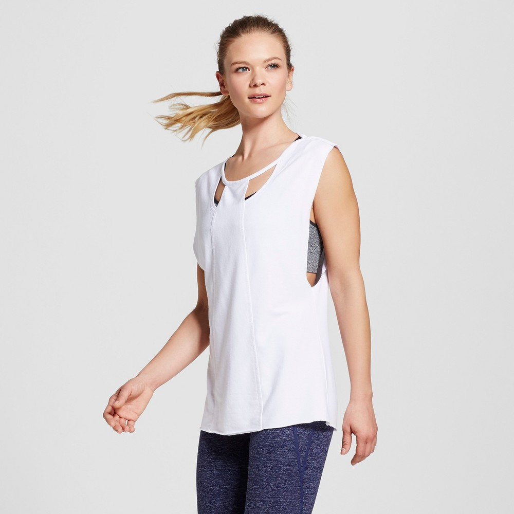 Love Life Live - Womens Sleeveless Cut Out Pullover - White S