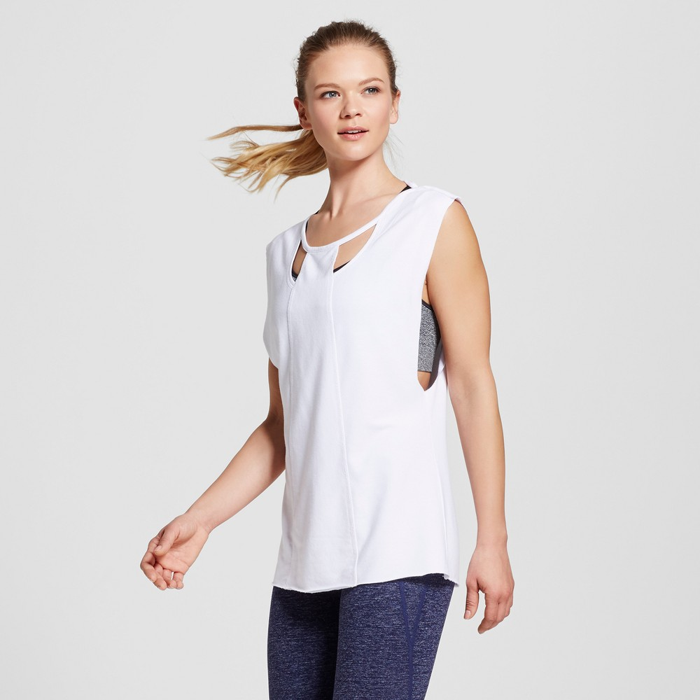 Love Life Live - Womens Sleeveless Cut Out Pullover - White XL
