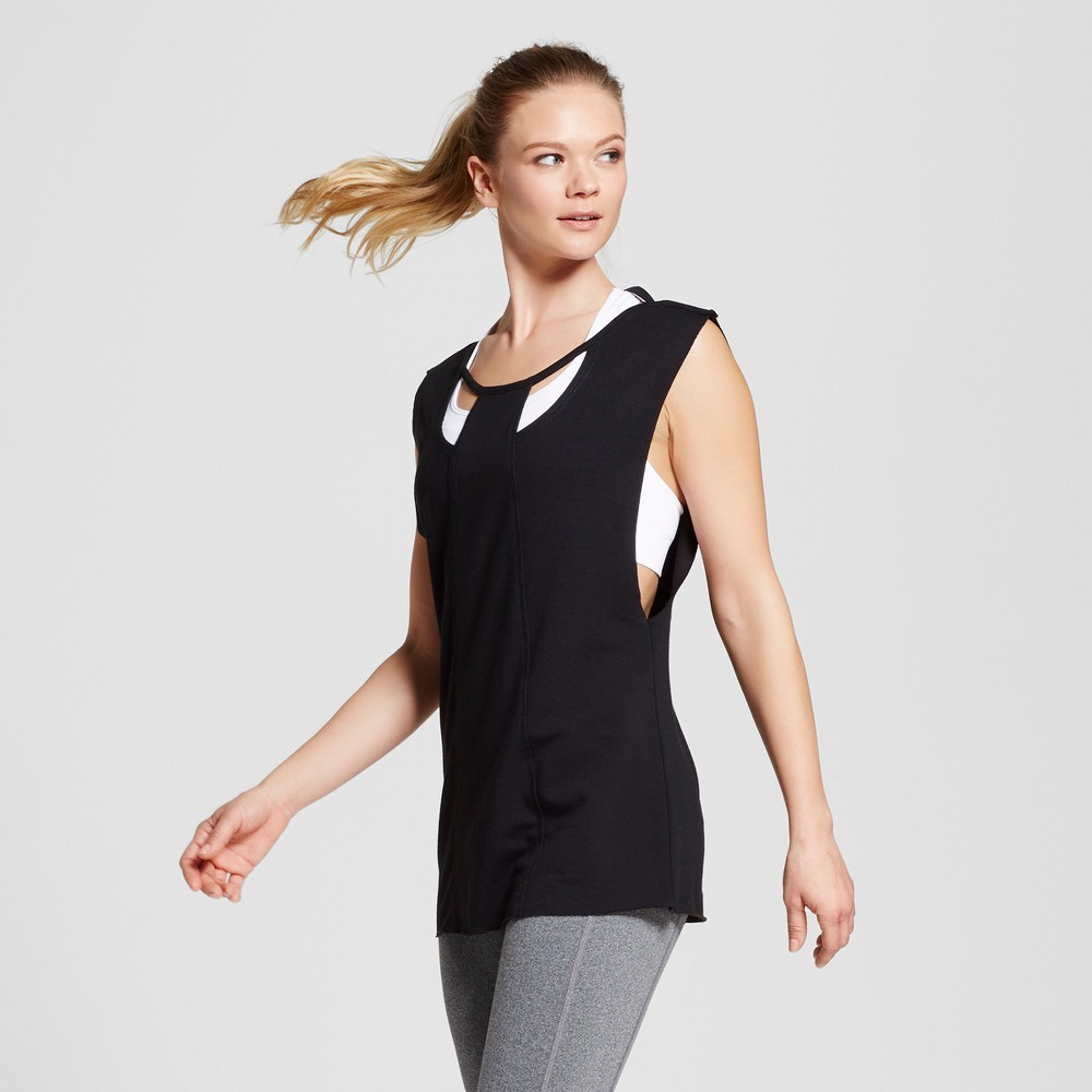 Love Life Live - Womens Sleeveless Cut Out Pullover - Black XS