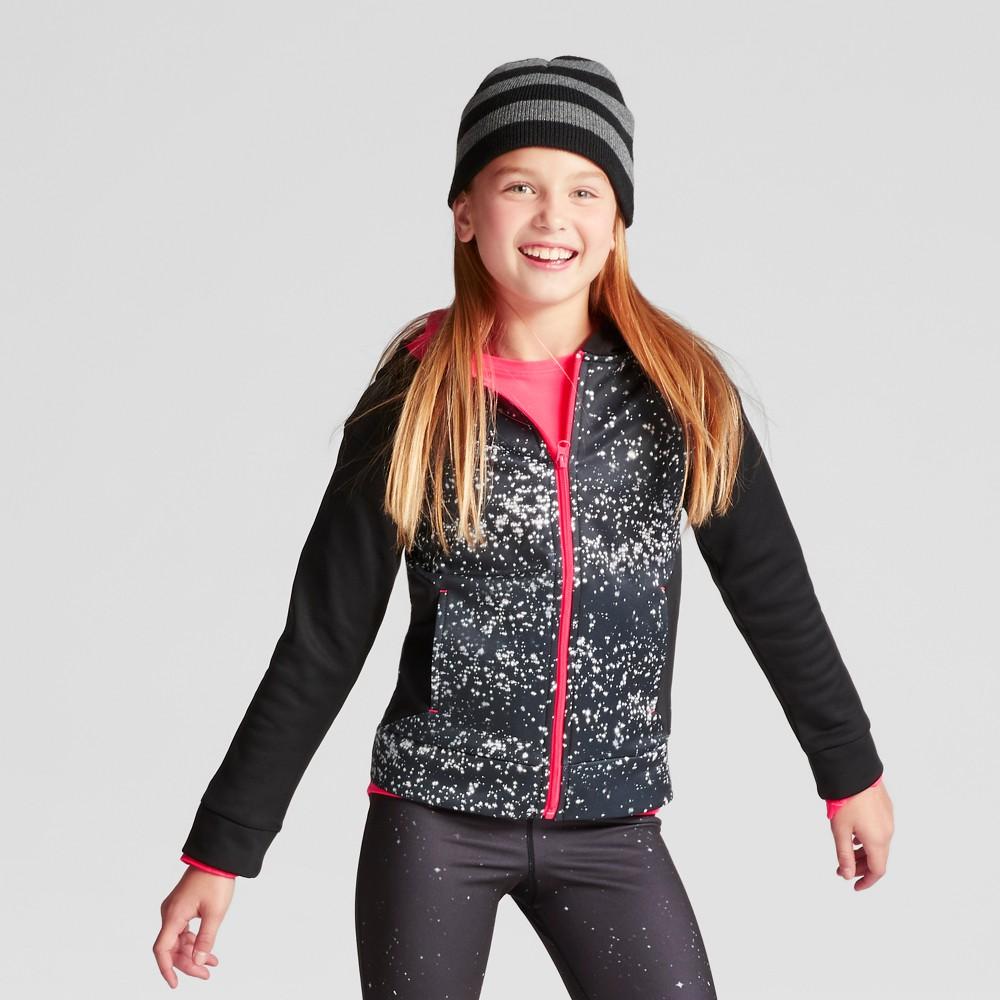 Girls Printed Tech Fleece Full Zip Hoodie Starry Dot - C9 Champion White/Black XL