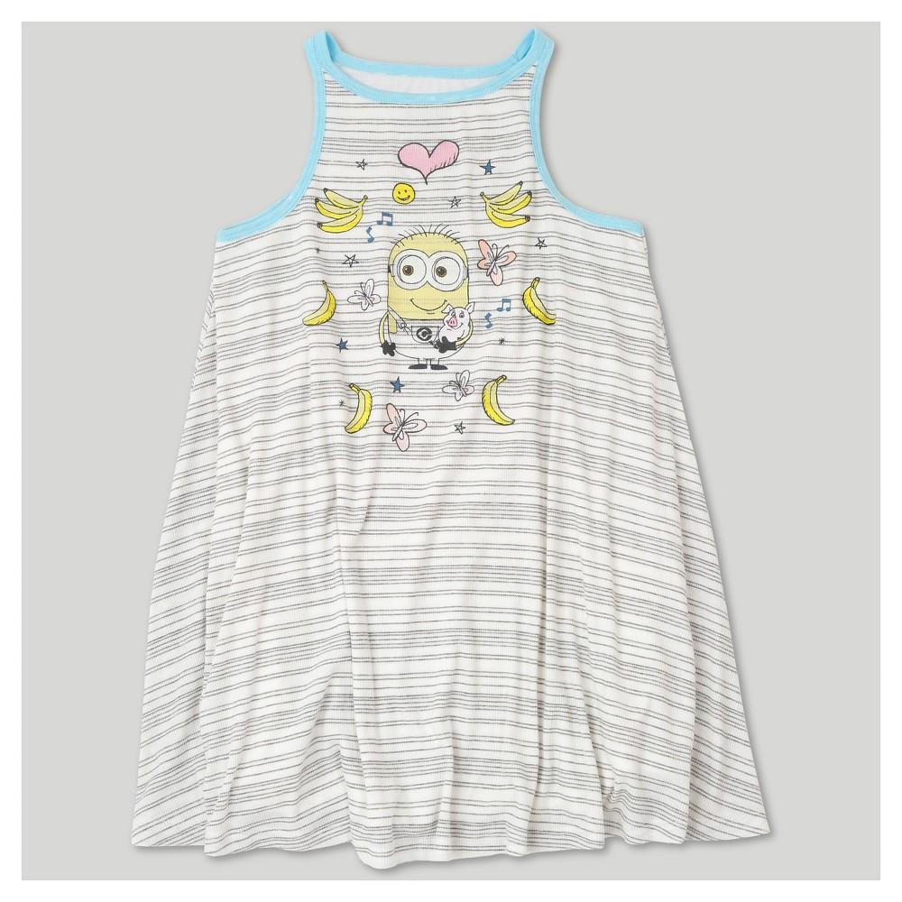 Girls Despicable Me 3 Tank Dress - White XL