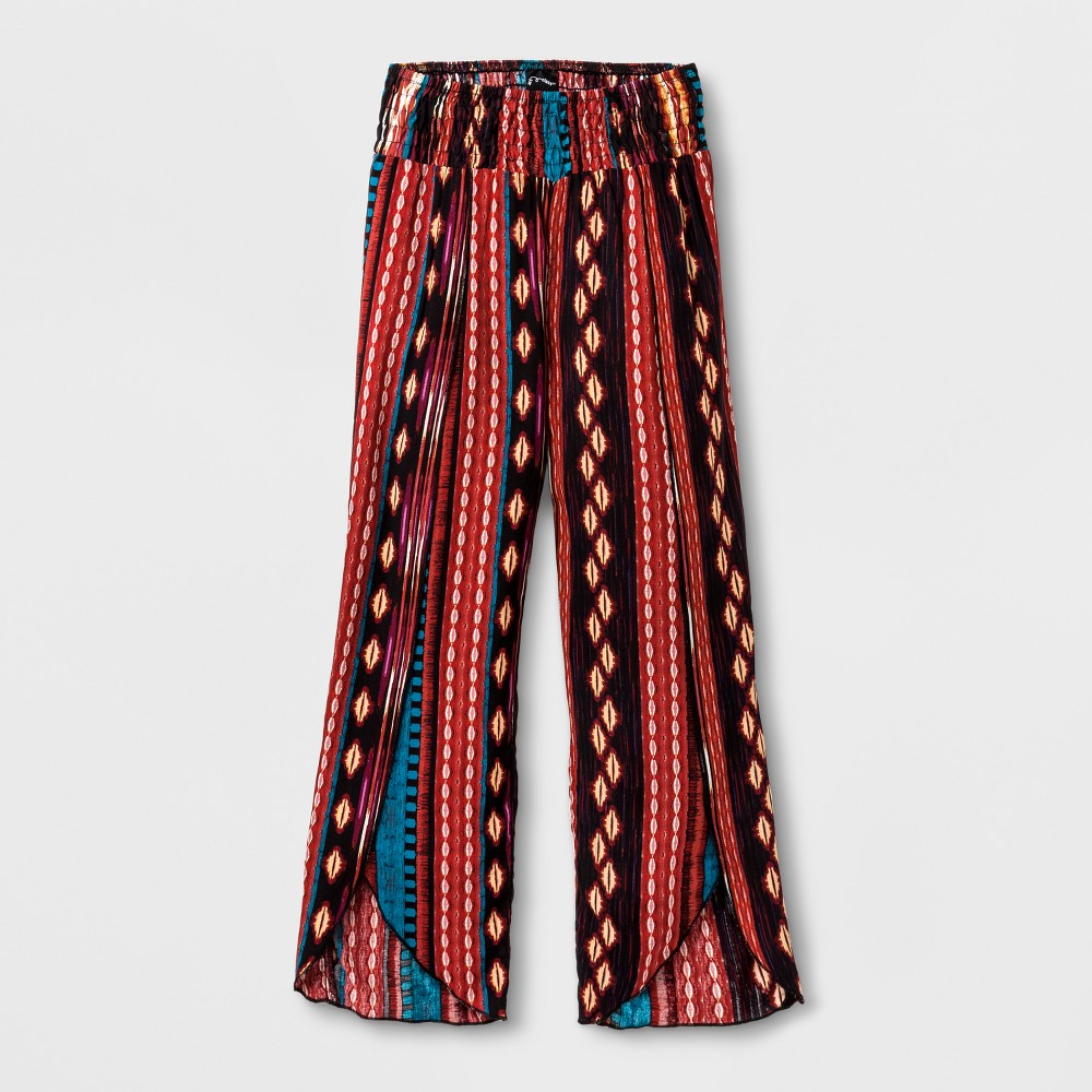 Girls Tribal Straight Pants - Art Class XL, Multicolored