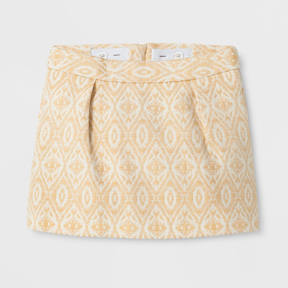 Toddler Girls Jacquard A Line Skirt - Genuine Kids from OshKosh Autumn Yellow 3T, Size: 18 M