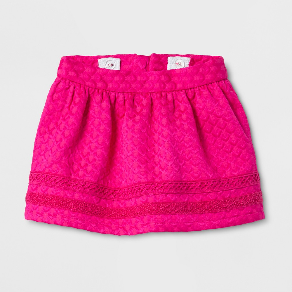 Toddler Girls Solid A Line Skirt - Genuine Kids from OshKosh Pizzazz Pink 18M, Size: 18 M