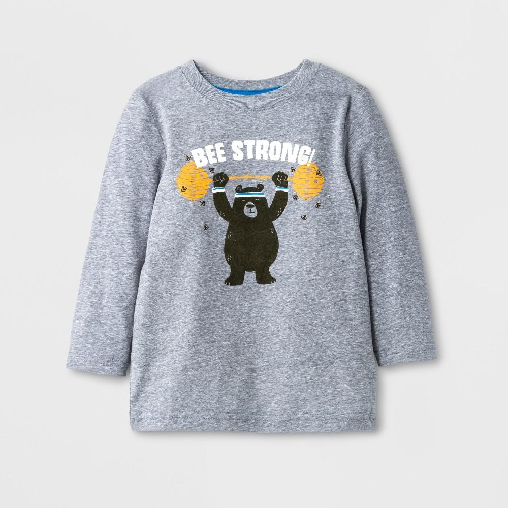 Toddler Boys T-Shirt - Cat & Jack Light Gray 12M, Size: 12 M