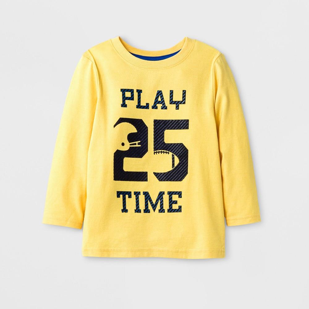 Toddler Boys T-Shirt - Cat & Jack Gold 3T, Yellow
