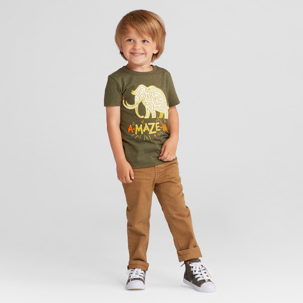 Toddler Boys T-Shirt - Cat & Jack Green 3T