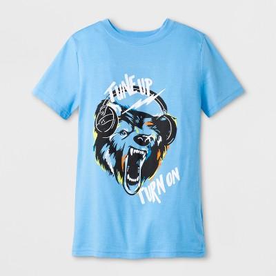 Boys' Bear Short Sleeve Graphic T-Shirt - Cat & Jack™ Blue XS