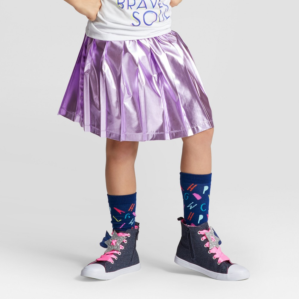 Girls Shine Skirt - Cat & Jack Purple XL