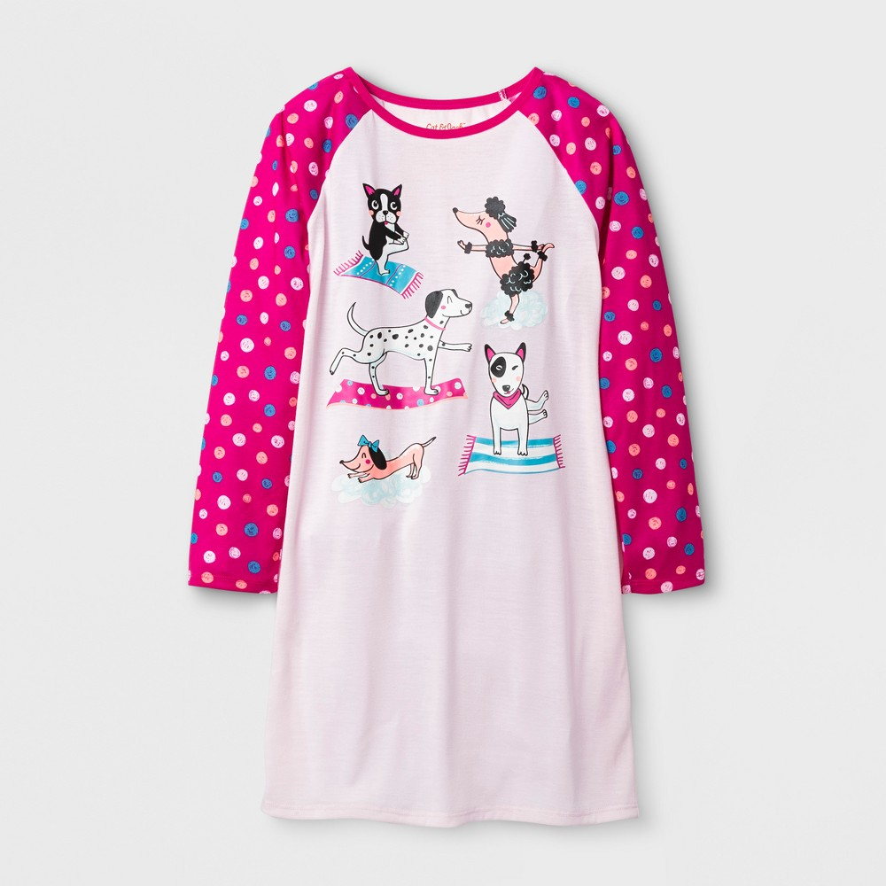 Girls Yoga Dog Sleep Gown - Cat & Jack Pink L