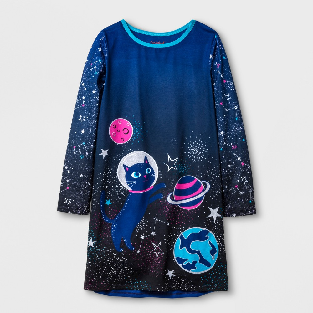 Girls Cat Sleep Gown - Cat & Jack Blue S