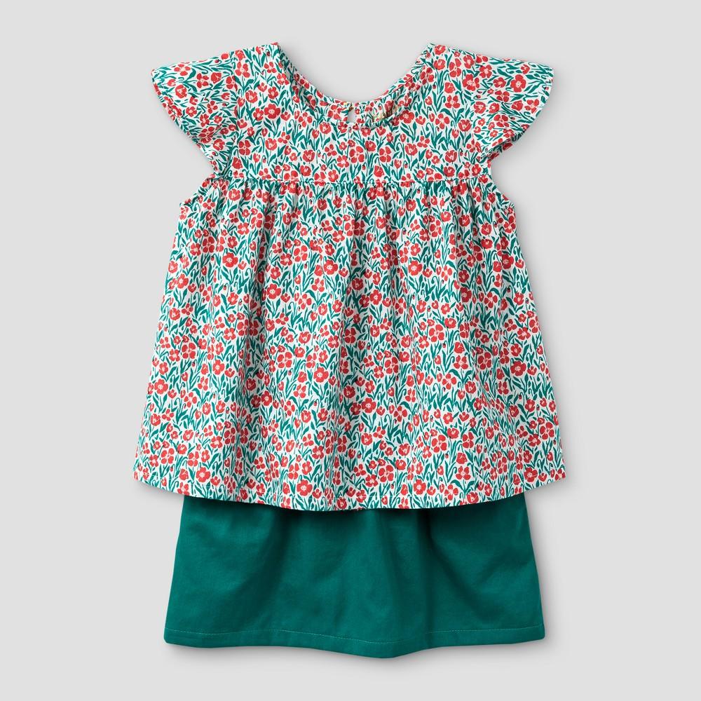 Toddler Girls Top And Bottom Set - Genuine Kids from OshKosh Jade Springs 4T, Green
