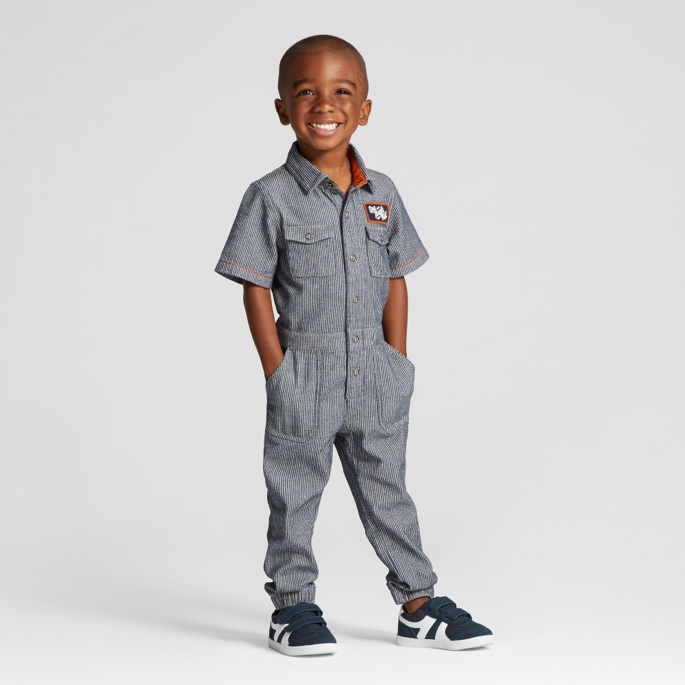 Toddler Boys Bodysuit Genuine Kids from OshKosh Navy 4T, Blue
