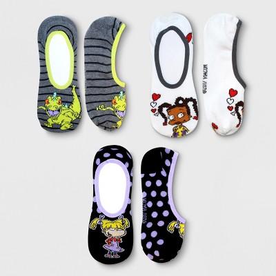 Rugrats Women's 3-Pack Liner Socks Black 9-11