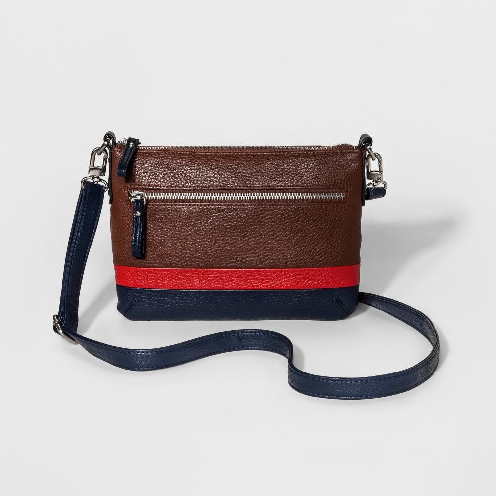 Womens Passport Crossbody Handbag - Merona Valise Brown