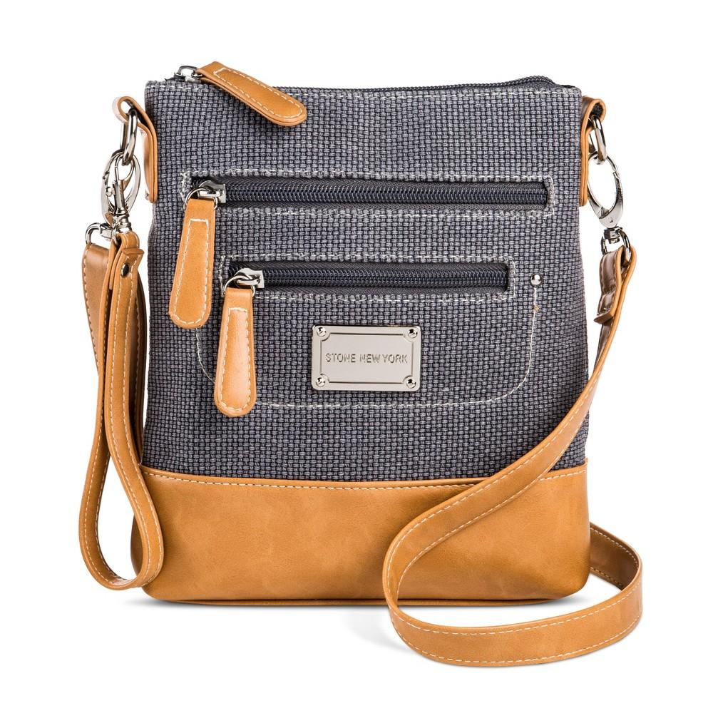 Stone NY Womens Crossbody Handbag - Deep Blue