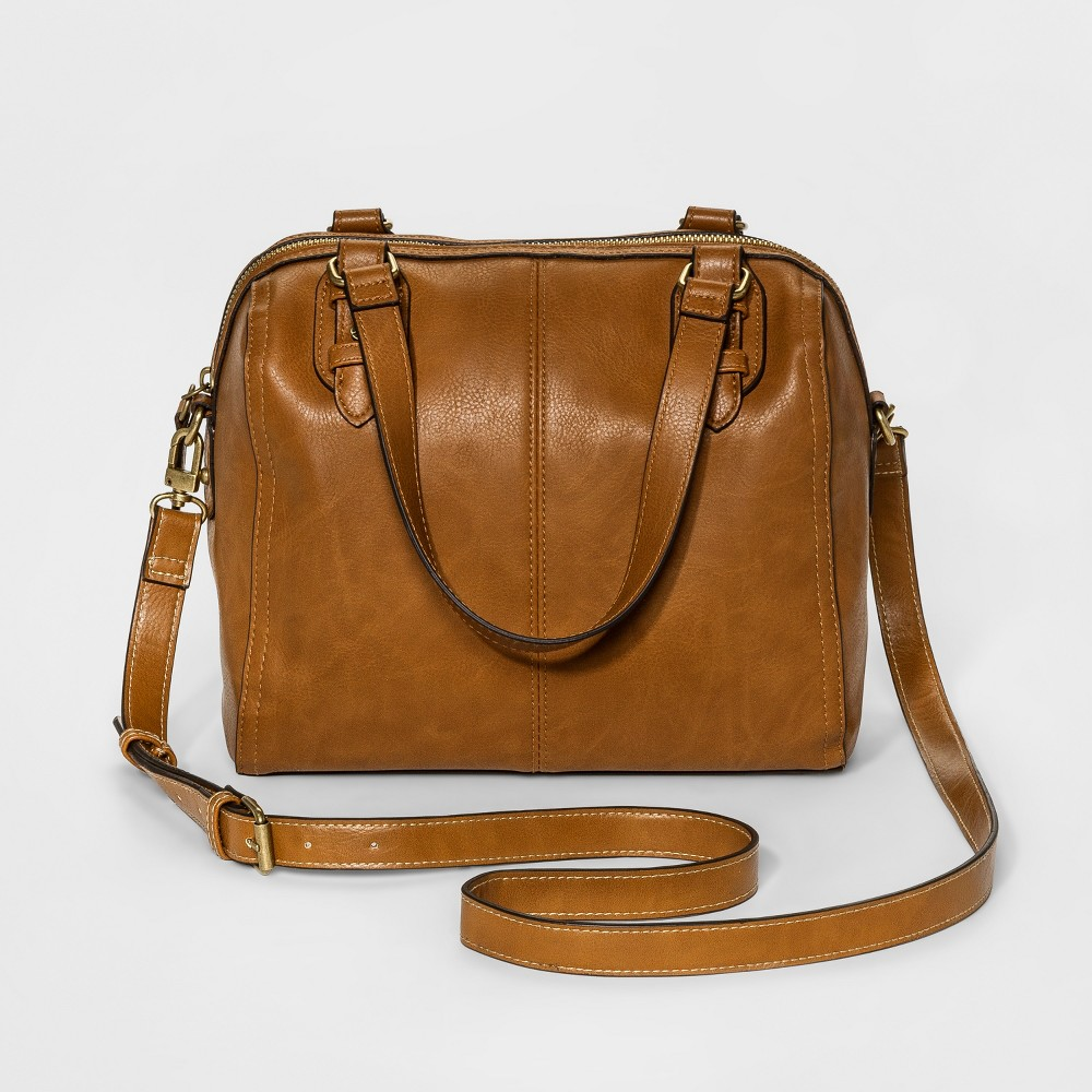 Womens Speedy Satchel Handbag - Merona Camel