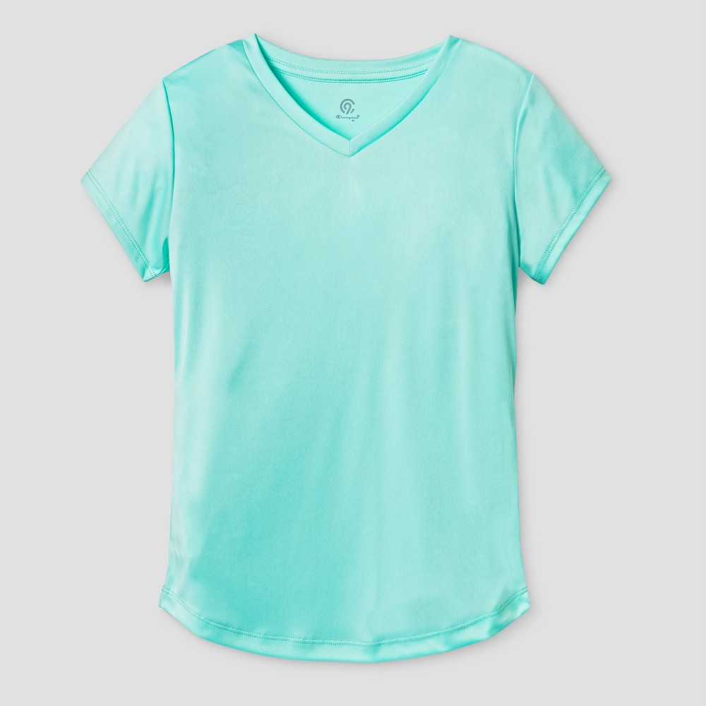 Girls' Tech T-Shirt - C9 Champion Light Sea Green XL