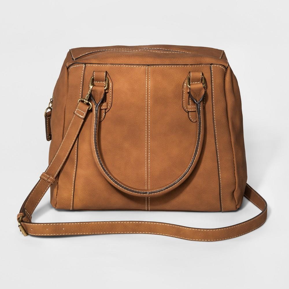 Womens Satchel Handbag - Merona Butternut Wood, Size: Small