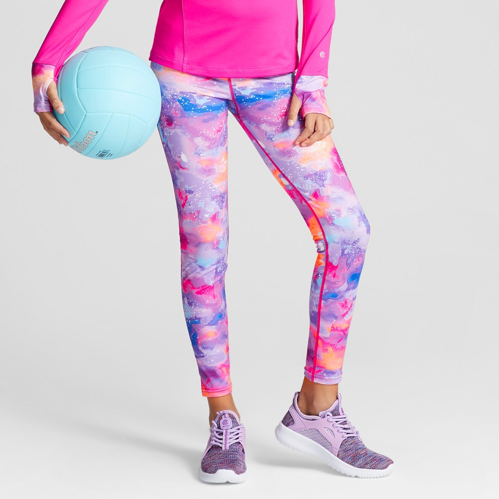 Girls Printed Performance Leggings - C9 Champion Pink XL