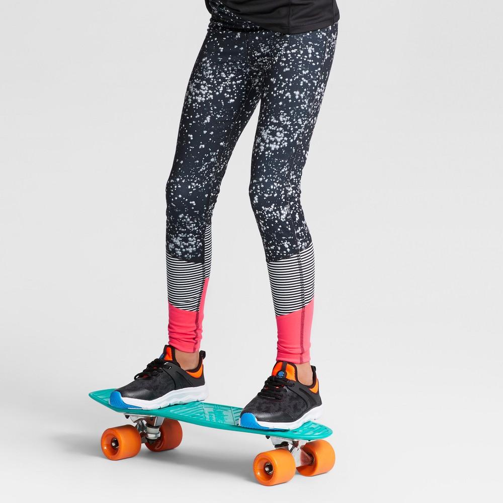 Girls Novelty Performance Leggings - C9 Champion Black/White/Pink XL, Gray