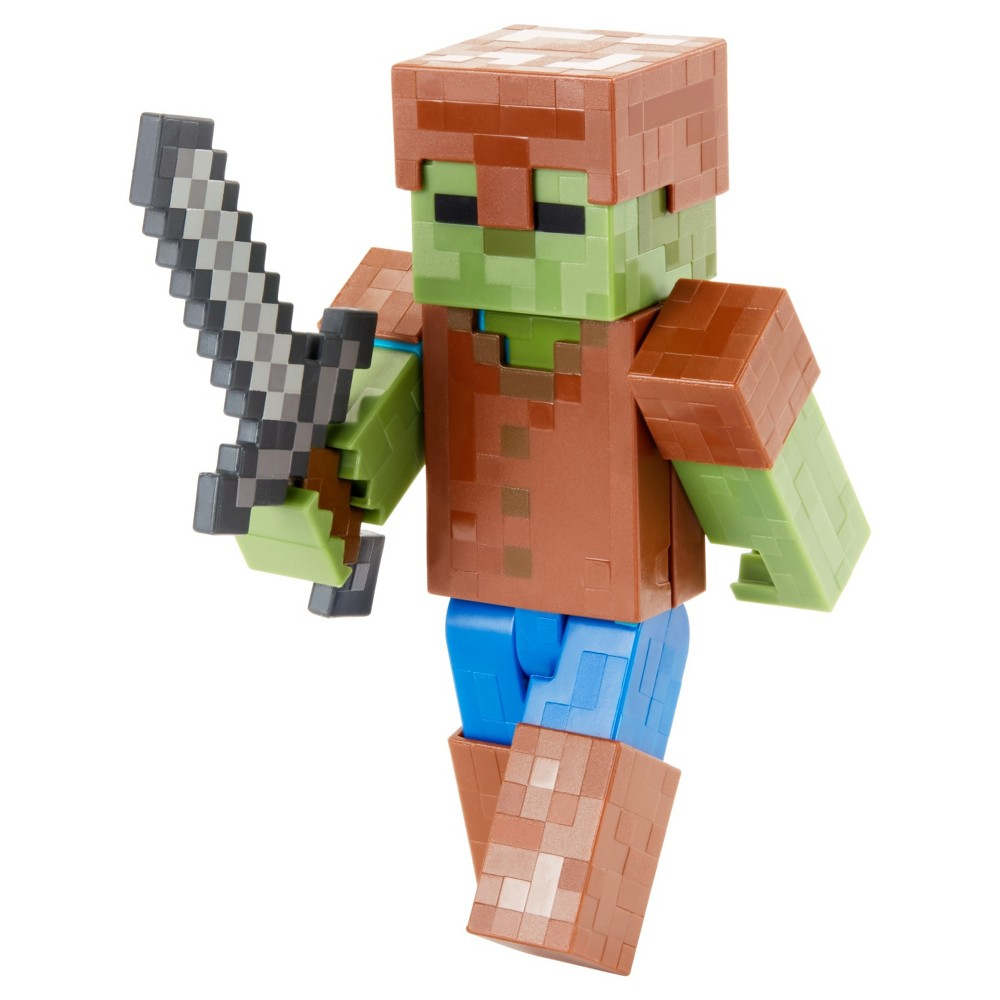 Minecraft Zombie In Armor Figure