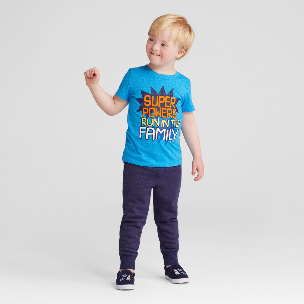 Toddler Boys Short Sleeve T-Shirt Cat & Jack Cloisonne 2T, Blue