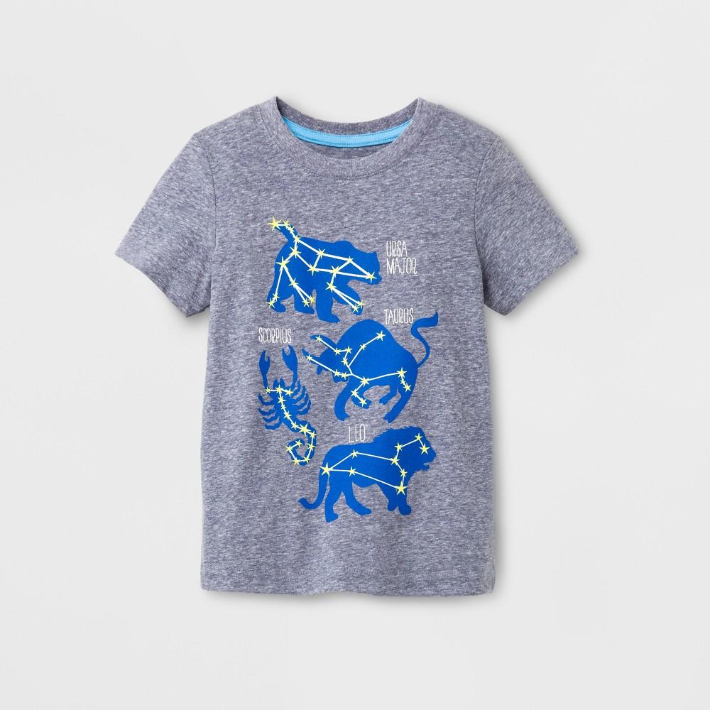 Toddler Boys Short Sleeve T-Shirt Cat & Jack Stately Blue 12M, Size: 12 M