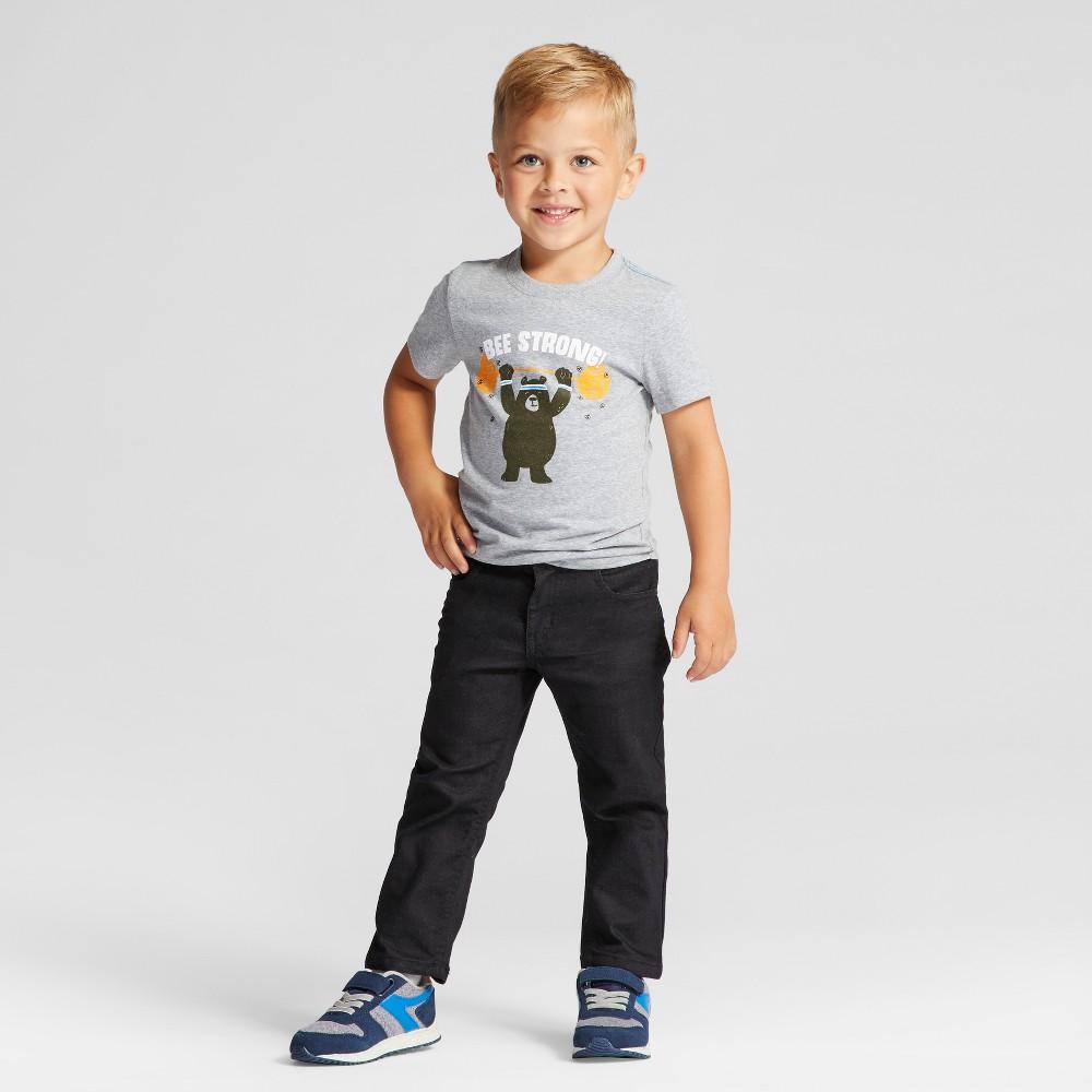 Toddler Boys Short Sleeve T-Shirt Cat & Jack Nimbus Cloud 3T, Gray