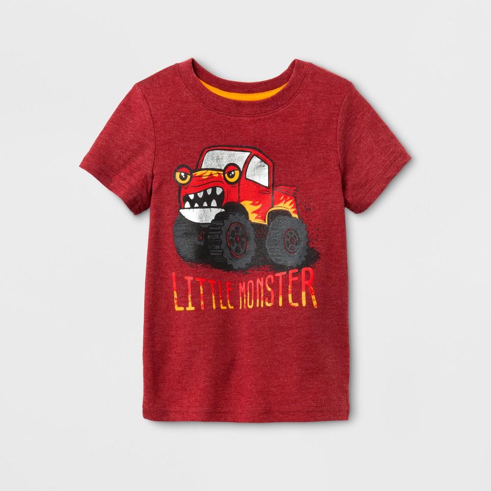 Toddler Boys Short Sleeve T-Shirt Cat & Jack Red Ribbon 18M, Size: 18 M