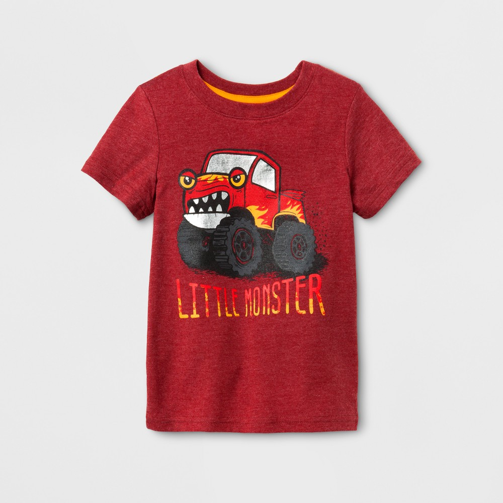 Toddler Boys Short Sleeve T-Shirt Cat & Jack Red Ribbon 3T