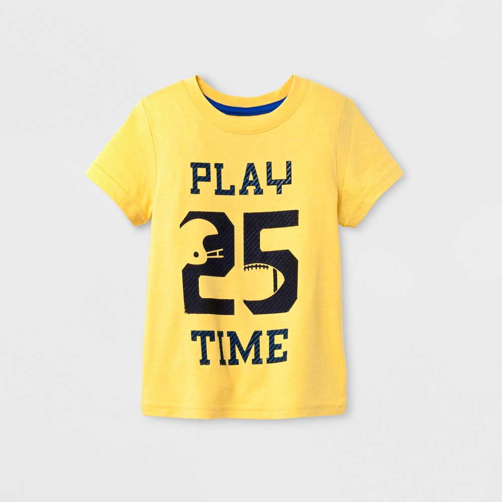 Toddler Girls' Short Sleeve T-Shirt Cat & Jack Gold 5T, Yellow