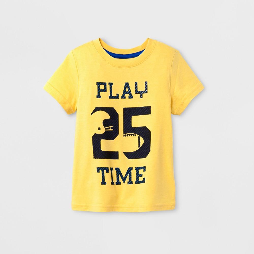Toddler Girls Short Sleeve T-Shirt Cat & Jack Gold 5T, Yellow