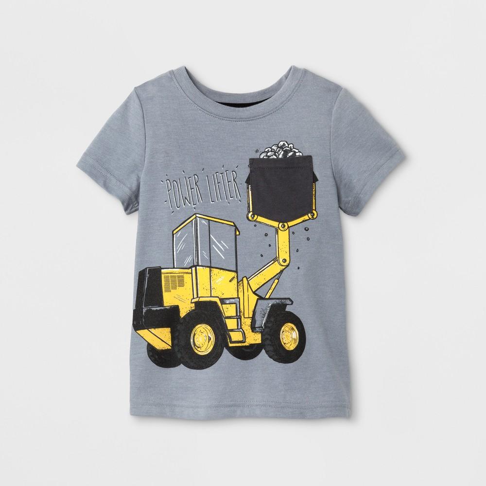 Toddler Boys Short Sleeve T-Shirt Cat & Jack Medium Heather Gray 3T