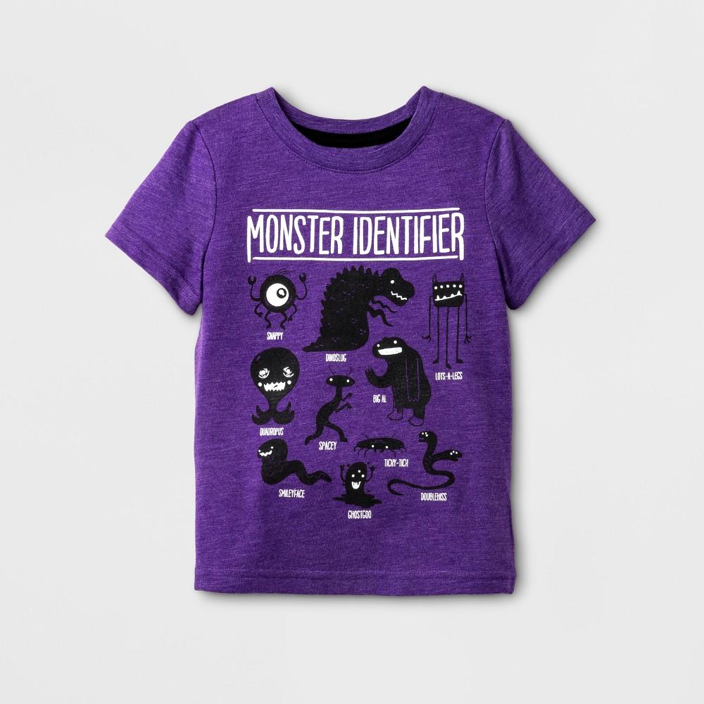 Toddler Boys Short Sleeve T-Shirt Cat & Jack Purple Marker 3T