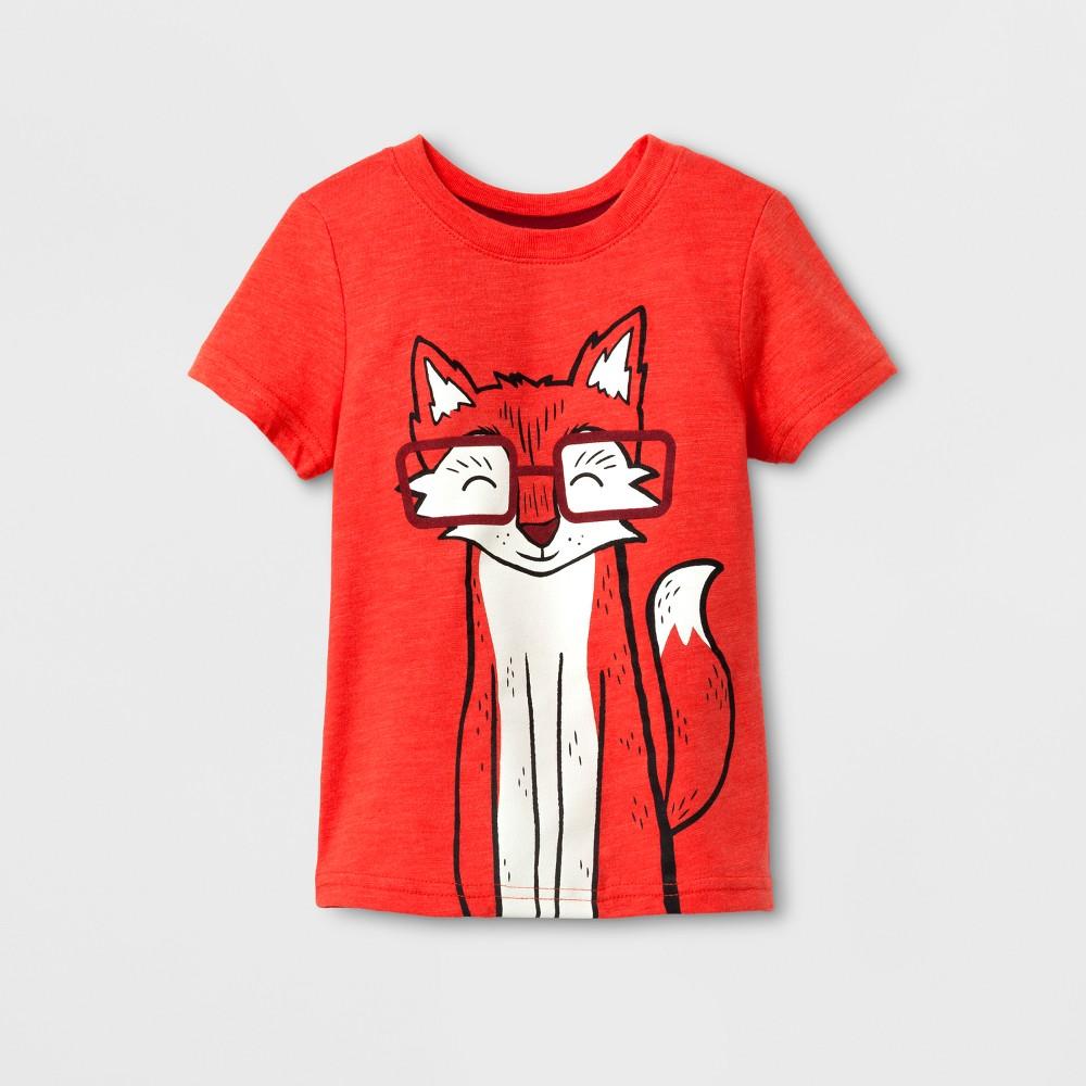 Toddler Boys Short Sleeve T-Shirt Cat & Jack Orange Spark 18M, Size: 18 M