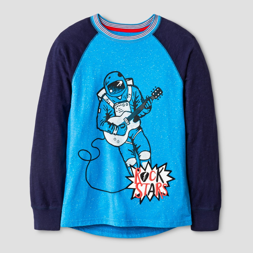 Boys Astronaut Graphic Long Sleeve T-Shirt - Cat & Jack Blue L