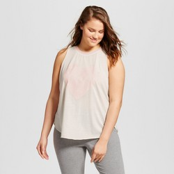 Plus Size Women's Heart Naps Ringer Tank - Grayson Threads (Juniors') White