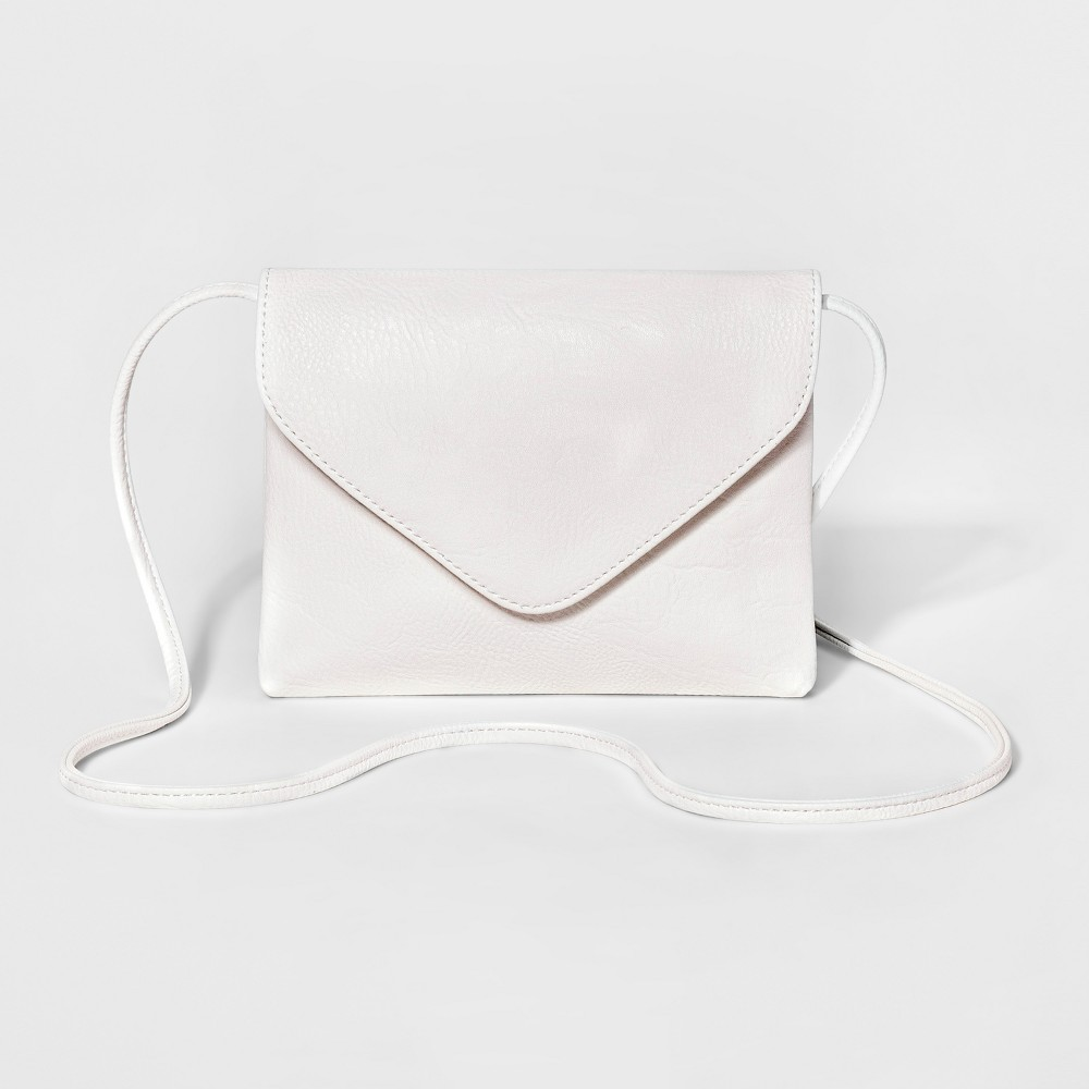 Womens Envelope-Flap Crossbody Handbag - Mossimo Supply Co. White